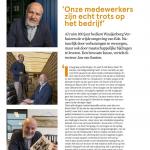 Artikel in blad van TLN (Transport en Logistiek Nederland) Over Mondial Waaijenberg Verhuizers en MVO