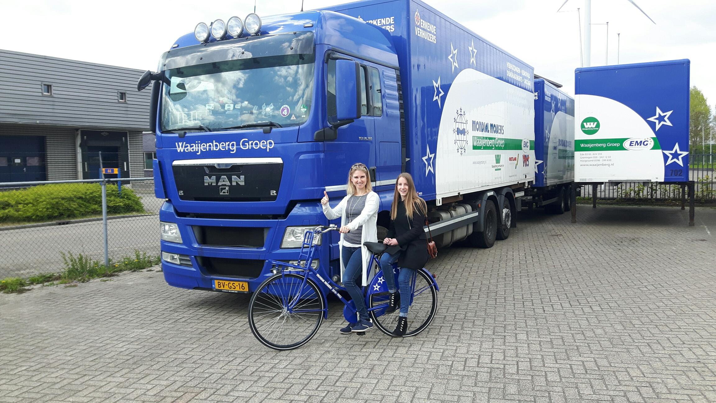Mondial Movers Verhuisfiets actie bij Mondial Waaijenberg Verhuizers uit Ede