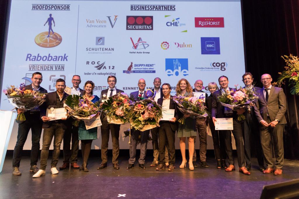 Mondial Waaijenberg genomineerd Ondernemer van het jaar 2017 Winaars op het podium